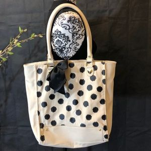 BETSEY JOHNSON TOTE BAG black and white.